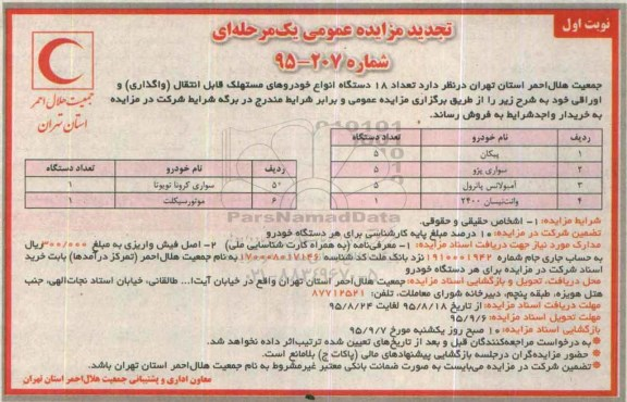 مبلغ عیدانه وزمان پرداخت ان درسال 95 مزایده خودروهای سپاه