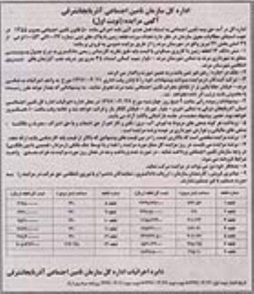 مزایده فروش زمین در تبریز